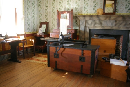 Printing press where thousands of probation papers were made and issued to the Southern Soldiers after their surrender