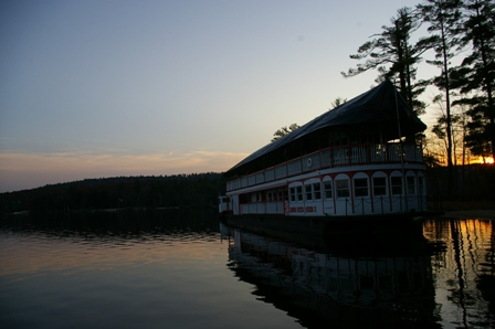 Paddle Boat on Long Lake in Naples, Maine