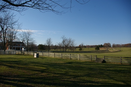 Famous road to Richmond where second to last Appomattox battle occured with McLean House in the background