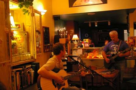 Playing with Tim at the Stir Crazy Coffee House