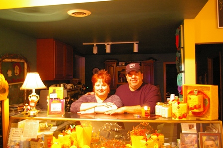Nancy & Frank ~ owners of the Stir Crazy coffee house